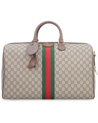 Gucci Ophidia GG Supreme Fabric Travel Bag - Natural