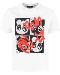 MCM T-shirt in cotone con stampa - Bianco