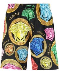 Versace Shorts da mare stampati - Nero