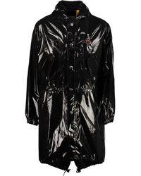 8 MONCLER PALM ANGELS High Shine Parka Jacket - Black