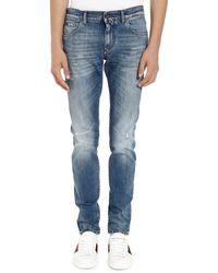 Dolce & Gabbana Jeans skinny con usure localizzate - Blu