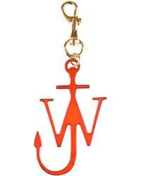 JW Anderson J Anchor Leather Keyring - Orange