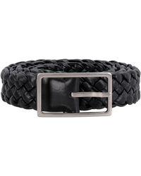Bottega Veneta Woven Leather Belt - Black
