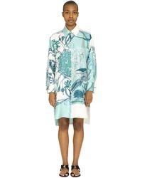 Ferragamo Silk Shirt Dress - Blue