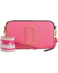 Marc Jacobs Snapshot Leather Camera Bag - Pink