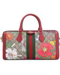 Gucci Ophidia GG Supreme Fabric Handbag - Red