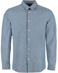A.P.C. Hector Oxford Cotton Shirt - Blue