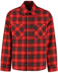 Off-White c/o Virgil Abloh Checked Flannel Shirt - Red