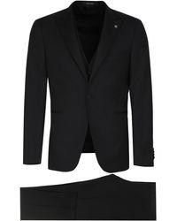 Tagliatore Three-piece Dinner Suit - Black