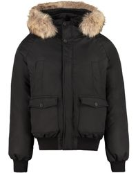 Pyrenex Mistral Hooded Bomber-style Down Jacket - Black