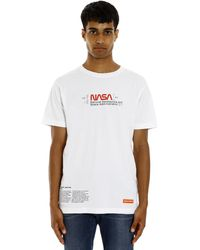 Heron Preston Nasa Print Regular Cotton T-shirt - White