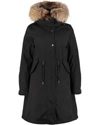Woolrich W's Cascade Hooded Quilted Parka With Internal Removable Waistcoat - Black