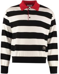 AMI Long Sleeve Wool Polo Shirt - Black