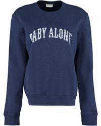 Saint Laurent Cotton Crew-neck Sweatshirt - Blue