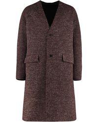 KENZO Cappotto in misto lana reversibile - Marrone