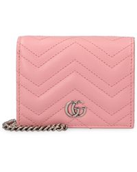 Gucci Wallet on chain GG Marmont in pelle - Rosa