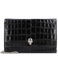 Alexander McQueen Skull Leather Mini-bag - Black