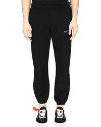Off-White c/o Virgil Abloh Short Stretch Cotton Track-pants - Black