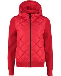 Canada Goose Hybridge® Down And Wool Hoodie - Red