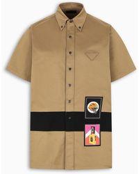 Prada Logo Patch Shirt - Multicolor