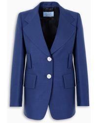 Prada Kid Mohair Blazer - Blue