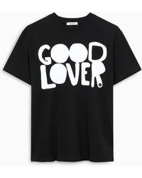 Valentino T-shirt GOOD LOVER nera - Nero