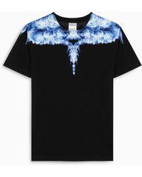 Marcelo Burlon T-shirt nera con stampa Wings - Nero