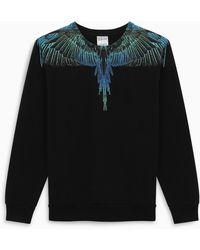 Marcelo Burlon /blue Wings Sweatshirt - Black