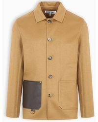 Loewe Camel Cashmere-blend Jacket - Natural