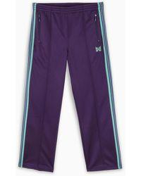 Needles Purple And Light Blue Track Pants