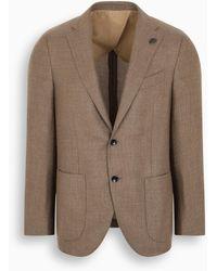 Gabriele Pasini Beige Cashmere Single-breasted Jacket - Natural