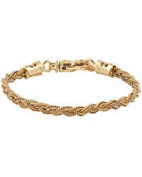 Emanuele Bicocchi Small Gold-plated Woven Bracelet - Metallic
