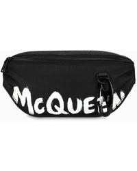 Alexander McQueen Marsupio Harness Graffiti nero/bianco
