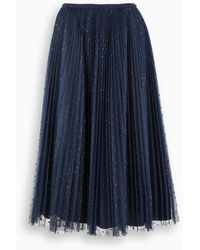 RED Valentino Blue Polka-dot Skirt