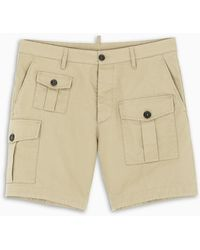 DSquared² Beige Cargo Shorts - Natural