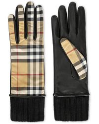 Burberry Vintage Check Gloves - Black