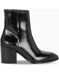 Aeyde Black Patent Leandra Boots