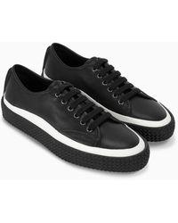 Ferragamo Sneaker con suola texturizzata - Nero