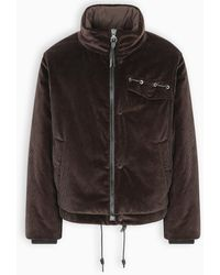 Ferragamo Brown Corduroy Down Jacket