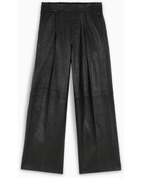 REMAIN Birger Christensen Leather Duchesse Pants - Black