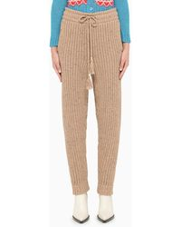 Alanui Knitted Trousers With Tassels - Brown