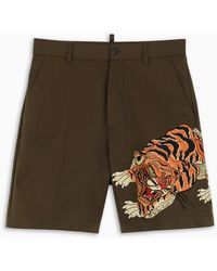 DSquared² - Embroidery Bermuda Shorts - Lyst