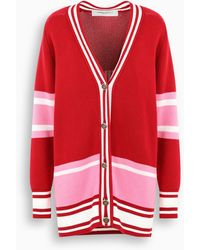Golden Goose Deluxe Brand Red/pink/white Long Cardigan