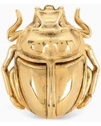 Saint Laurent Gold-tone Brass Scarab Ring - Metallic