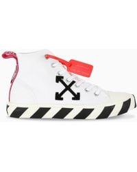 Off-White c/o Virgil Abloh Sneakers alte con applicazione - Bianco