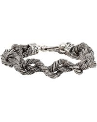 Emanuele Bicocchi Rope Chain Bracelet In Silver - Metallic