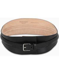 Alexander McQueen Women's Corset Waist Belt In Black