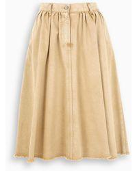 Golden Goose Deluxe Brand Light Brown Midi Skirt - Natural