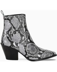 Aeyde Black And White Kate Ankle Boots