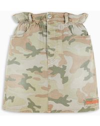 Miu Miu Camouflage Print Mini Skirt - Multicolor